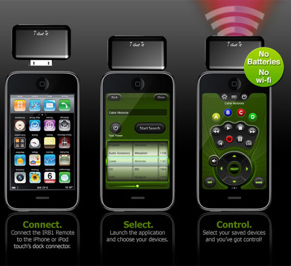 iPhone infrared Remote Control
