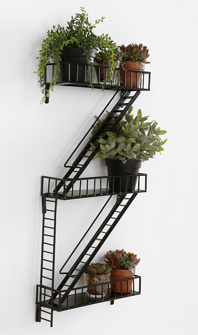 Fire Escape Wall Shelf