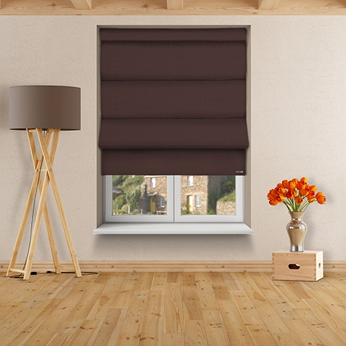 12v Battery Powered Asti Kona Coffee Electric Roman Blinds