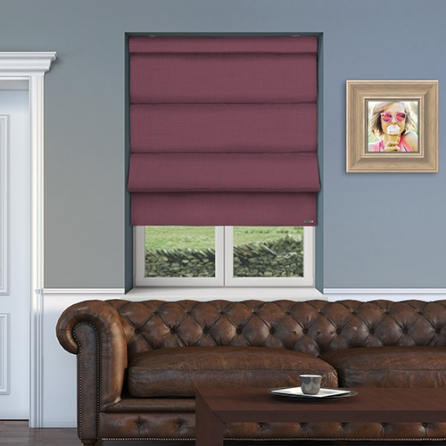 12v Battery Powered Asti Wisteria Electric Roman Blinds At