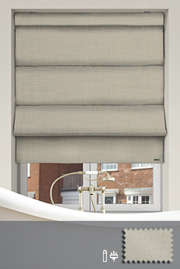Made To Measure Electric Amp Remote Control Roman Blinds In Uk